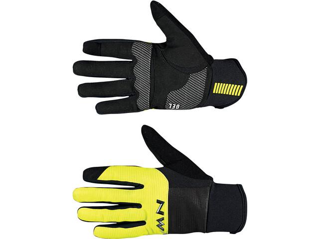 Northwave Power 3 Handsker Herrer, black/yellow fluo